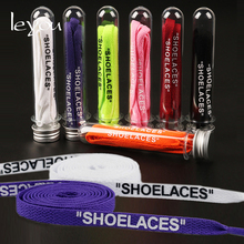 Leyou Double Sides Shoelaces Letter Shoelaces Diy Off White Shoe Laces Flat Sport Shoes Laces Colorful Shoestring New Fashion 30pairs lot weiou 3m reflective flat laces fit for ultra boost nmd tubular shoestring new lace designs bulk shining shoelaces