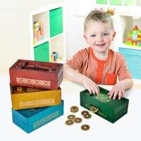 Wooden Puzzle Box Secret Trick Intelligence Compartment Magic Money Gift Box Brain Teaser Logic Educational Toy Longevity Patter