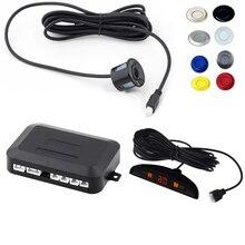 Автомобильные СВЕТОДИОДНЫЕ Датчик Парковки Комплект Дисплей 4 Датчики для всех автомобилей Обратный Помощи Резервного Радар Monitor System