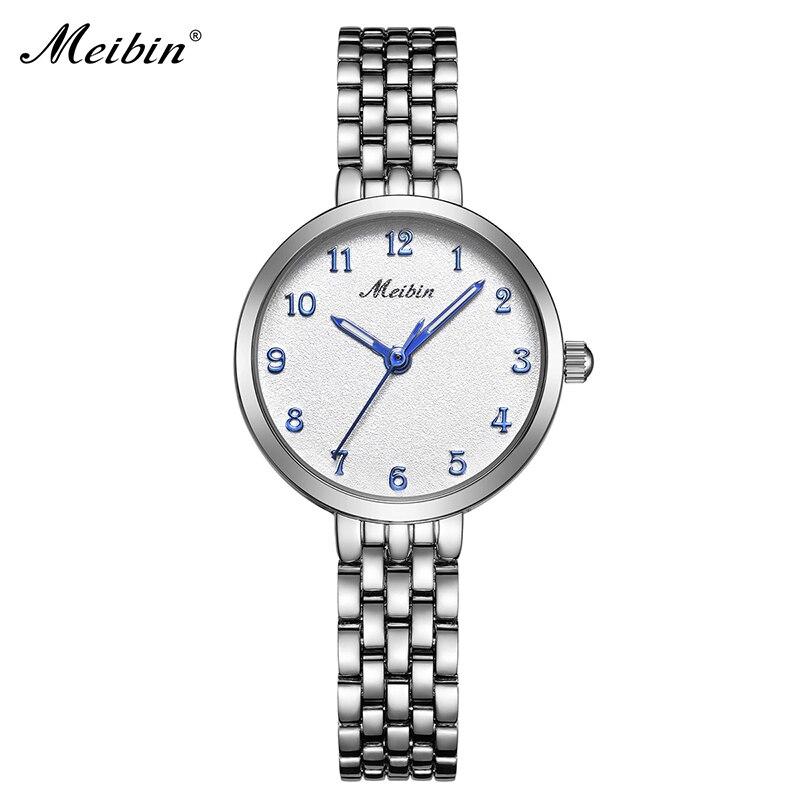 2018 MEIBIN Fashion Brand Women Quartz Watches Casual Waterproof Ladies Bracelet Watch Dress Alloy Female Clock Gift Reloj Mujer