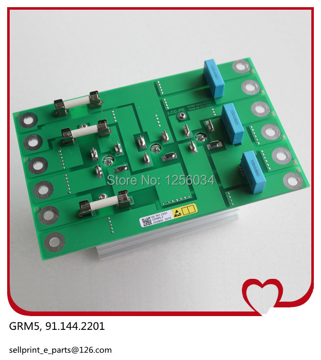 2 pieces FREE SHIPPING high quality heidelberg GRM-5 board 91.144.2201, printing GRM5 board, 5V provide power for NTK board