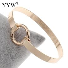 YYW 2017 Hot Brand Women Bangle Cuff Bracelet Rose Gold Cuff Bangles Love Bracele For Women Bracelets Bangles Hot Sell(China)
