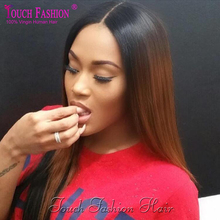 #1b/#30 Two Tone Ombre U Part Straight Wig 180 Density Virgin Brazilian Ombre Upart Wig Human Hair Full Lace Wig Lace Front Wig