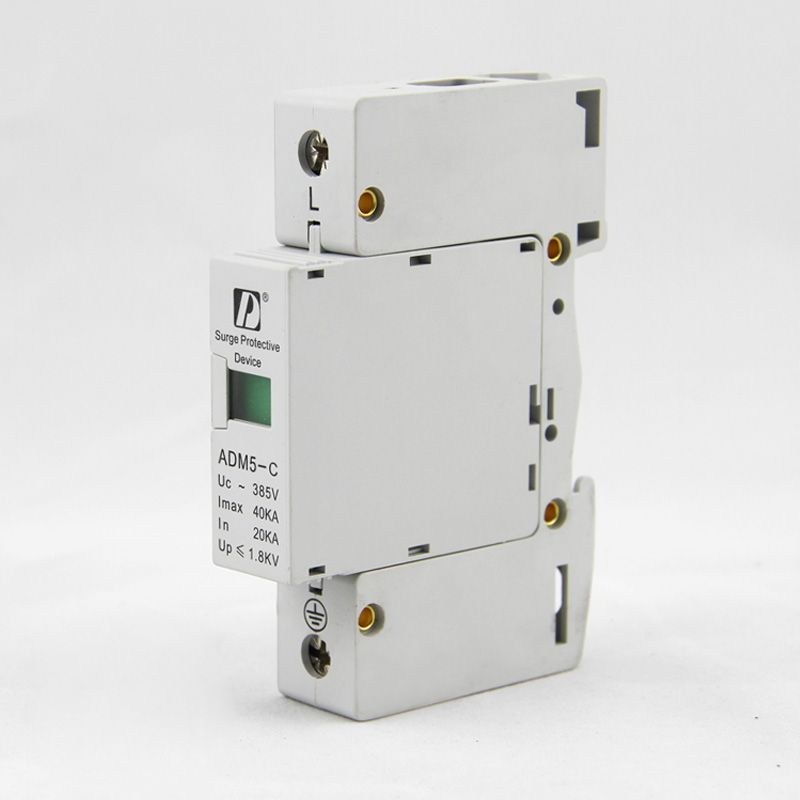 SPD 1P 20KA~40KA C ~385VAC House Surge Protector protection Protective Low-voltage Arrester Device paule ka водолазки
