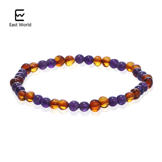 Raw Cognac Amber Bracelet for Adult - Elastic Baltic Amber Bracelet - Sizes from 18cm to 22cm FjgOrxk