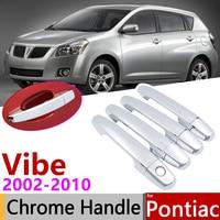Dla Pontiac Vibe 2002 ~ 2010 chromowana klamka pokrywa naklejki do samochodów tapicerka zestaw 2003 2004 2005 2006 2007 2008 2009 w Naklejki samochodowe od Samochody i motocykle na