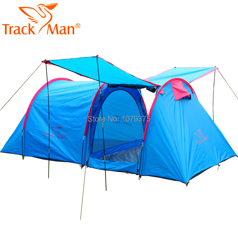 Trackman 5~8 Person Outdoor Camping Tent One Room One Hall Family Tent Gazebo Awnin Beach Tent Sun Shelter Family tent in one person