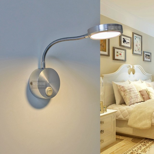 LED Wandleuchten 3 Watt Moderne Aluminium Wandleuchte Mit Schalter 85 265 V Badezimmer  Lampe Hotel Photo