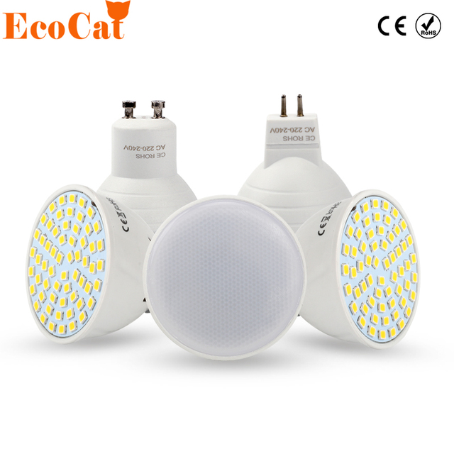 LED Lamp 220V 6W GU10 Spotlight MR16 4W COB Chip Beam SMD 2835 Warm / cool white Energy Saving Bombillas
