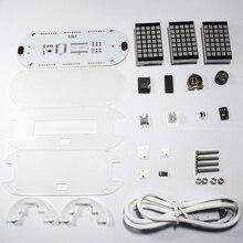 Лучшая цена Высокое качество DIY DS3231 touch ключ высокой точности-Яркость СВЕТОДИОДНЫЙ матричный Дисплей Desktop Будильник комплект