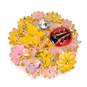 Przystawki przycisk 18mm metalowe zatrzaski na zatrzaski bransoletki fit ginger snaps biżuteria motyl biedronka na kwiaty przystawki TZ9020