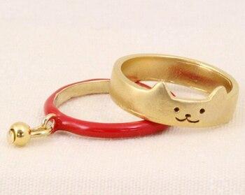 Baby Twin Kitten Ring (2PCS)