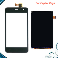 1PC Lot High Quality For Explay Vega LCD Screen Display Screen And Touch Screen Replacement Free
