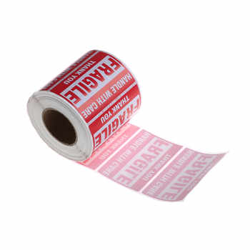 500Pcs/Roll Fragile Shipping Mailing Handle With Care Stickers Warning Sticker 51 mm x 76mm - DISCOUNT ITEM  19% OFF All Category