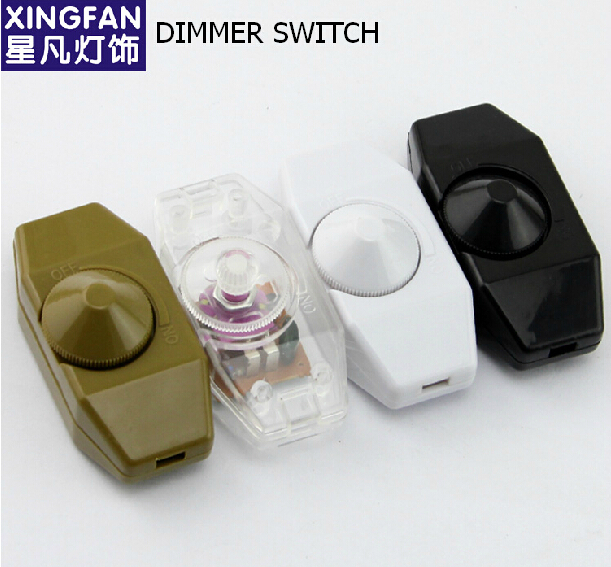 FREE SHIPPING Wholesale Dimmer Table Desk Lamp Dimmer Switch Adapter Adjust Light Floor Lamp DIY Accessories