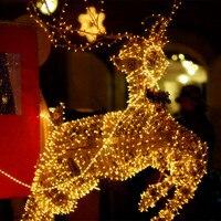 10 M Impermeabile 100 LED di vacanza Concatenati luci Della Stringa per Festival Festa Di Natale Fata Colorful Xmas Luci della Stringa del LED