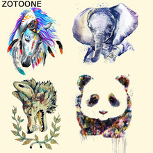 ZOTOONE Fashion Animal Patch Iron on Heat Transfer Patches for Kid Clothing Cartoon DIY Stripes Applique T-shirt Custom Sticker