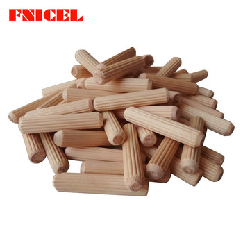 100pcs M6/M8 Wooden Needle Bolt Round Raft Cork Twill Wood Pin Nails Wedge Wooden Shaft Connector 30mm-80mm Length
