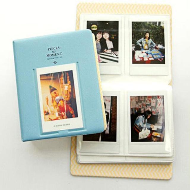 64 карманы современный альбом чехол для хранения картонных коробок фотография Поляроида Mini Fuji Film Instax для кредитных карт банк удостоверение личности случайный цвет