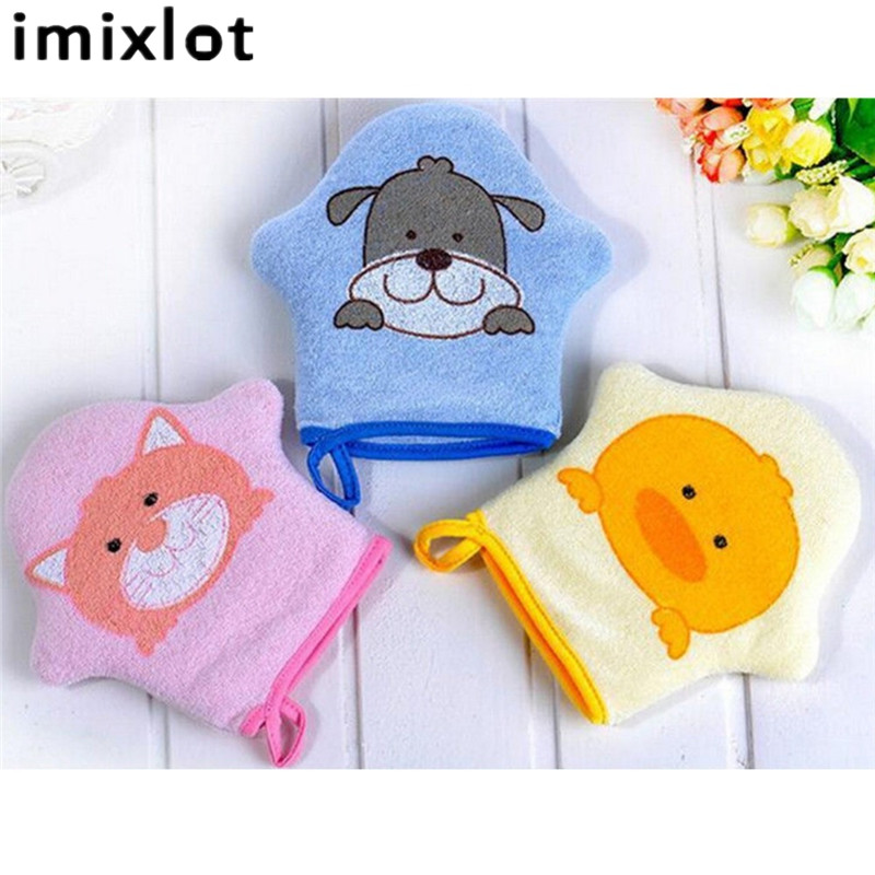 Imixlot 1 Pc Sponge Children Bath Rub Gloves Shower Body Wash Puff Mesh Net Ball Bathroom Daily Use Cleaning Supply ...
