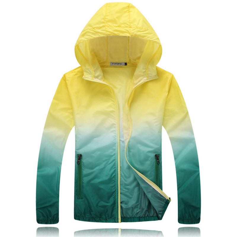 b06a0390e797 2018 Summer Sunscreen Coat Jacket Unisex Windbreaker Waterproof Thin Hooded  Zipper Quick Drying-in Basic Jackets from Women s Clothing   Accessories on  ...