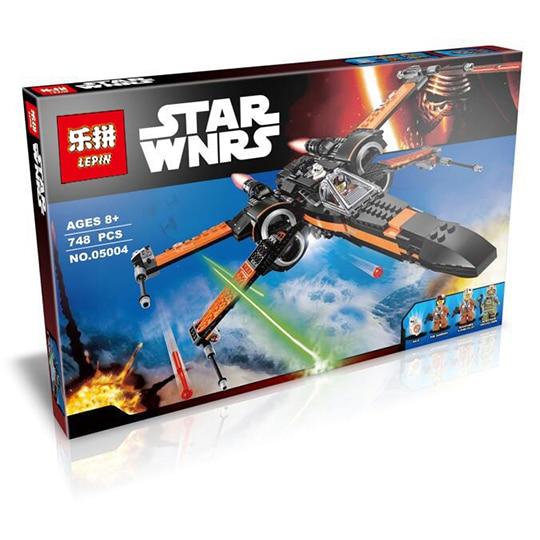 LEPIN 05029 05004 Star Wars Poe's X-Wing Fighter Resistance Building Blocks Children's Toys Compatible with Lego 75149 75102 конструктор lepin star wnrs истребитель сопротивления x wing fighter 740 дет 05029
