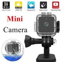 SQ12 미니 카메라 방수 360도 광각 렌즈 HD 1080 마력 광각 미니 캠코더 DVR SQ12 미니 스포츠 비디오 카메