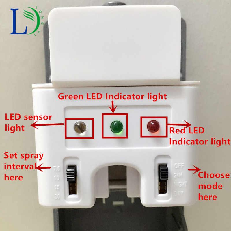 2019 indukcji światła automatyczny dozownik aerozolu z do montażu na ścianie hotelu toaleta perfum opryskiwacz maszyny odświeżacze powietrza