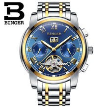 Switzerland BINGER watches men luxury brand Tourbillon sapphire luminous multiple functions Mechanical Wristwatches B8601-10