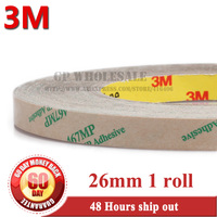 26mm*55M*2.3mils thick 3M 467MP 200MP Double sided Adhesive Tape clear for Rubber Foam Toy PC Parts Assemble