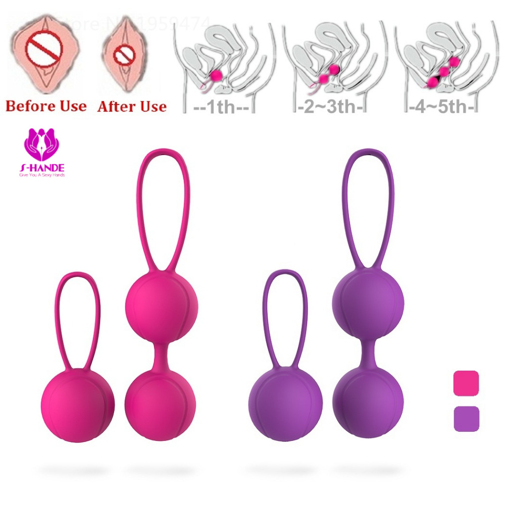 SHD-015 Rosa/Peurple Farbe Silikon Kegel Ball Vaginal Muscle ...