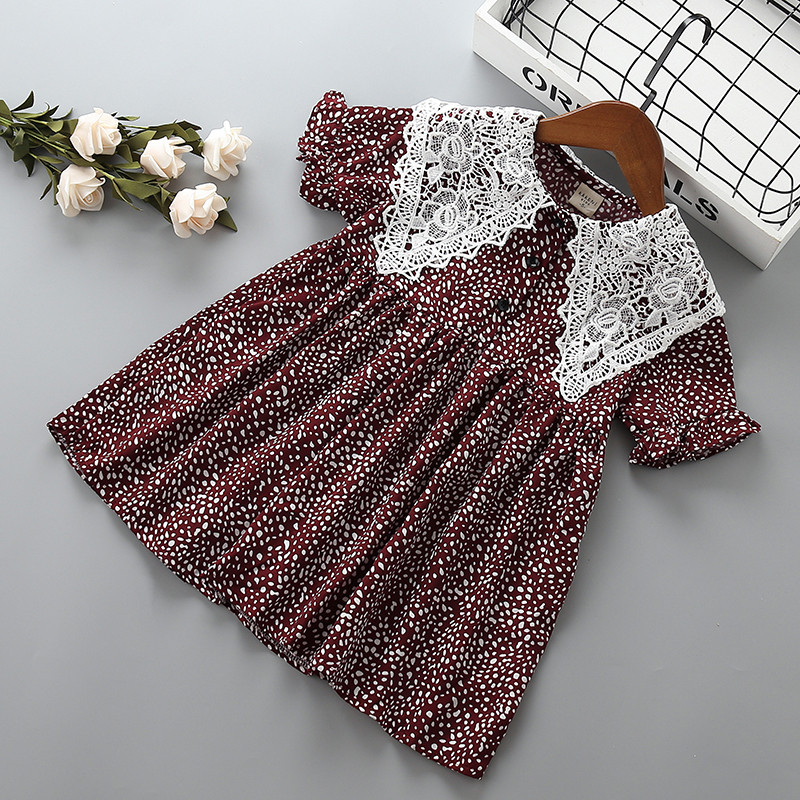 2-7 Year High Quality Girl Dress 2019 New Summer Fashion Lace Flower Kid Children Girl Clothing Party Birthday Princess Dress