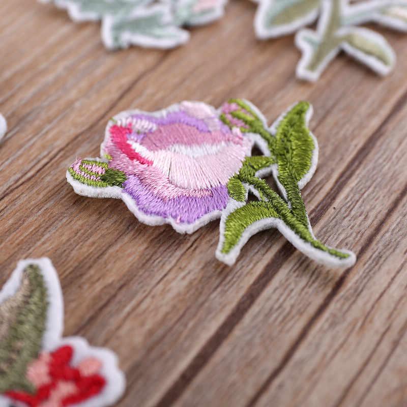 1Pcs ดอกไม้เย็บปักถักร้อย Patch โอนความร้อนเหล็กบนเย็บบนแพทช์สำหรับ DIY เสื้อยืดเสื้อผ้าสติกเกอร์ตกแต่ง Appliques 47229