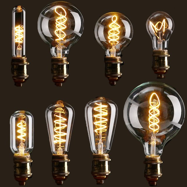 vintage edison bulb led light e27 4w dimmable industrial filament led lamp retro glass holiday. Black Bedroom Furniture Sets. Home Design Ideas