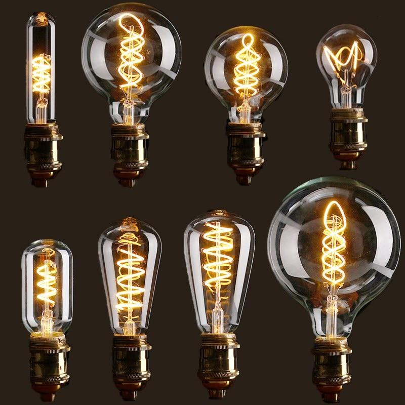 Vintage Edison Bulb LED Light E27 4W Dimmable Industrial Filament LED Lamp Retro Glass Holiday Lights Decor Chandelier Lighting