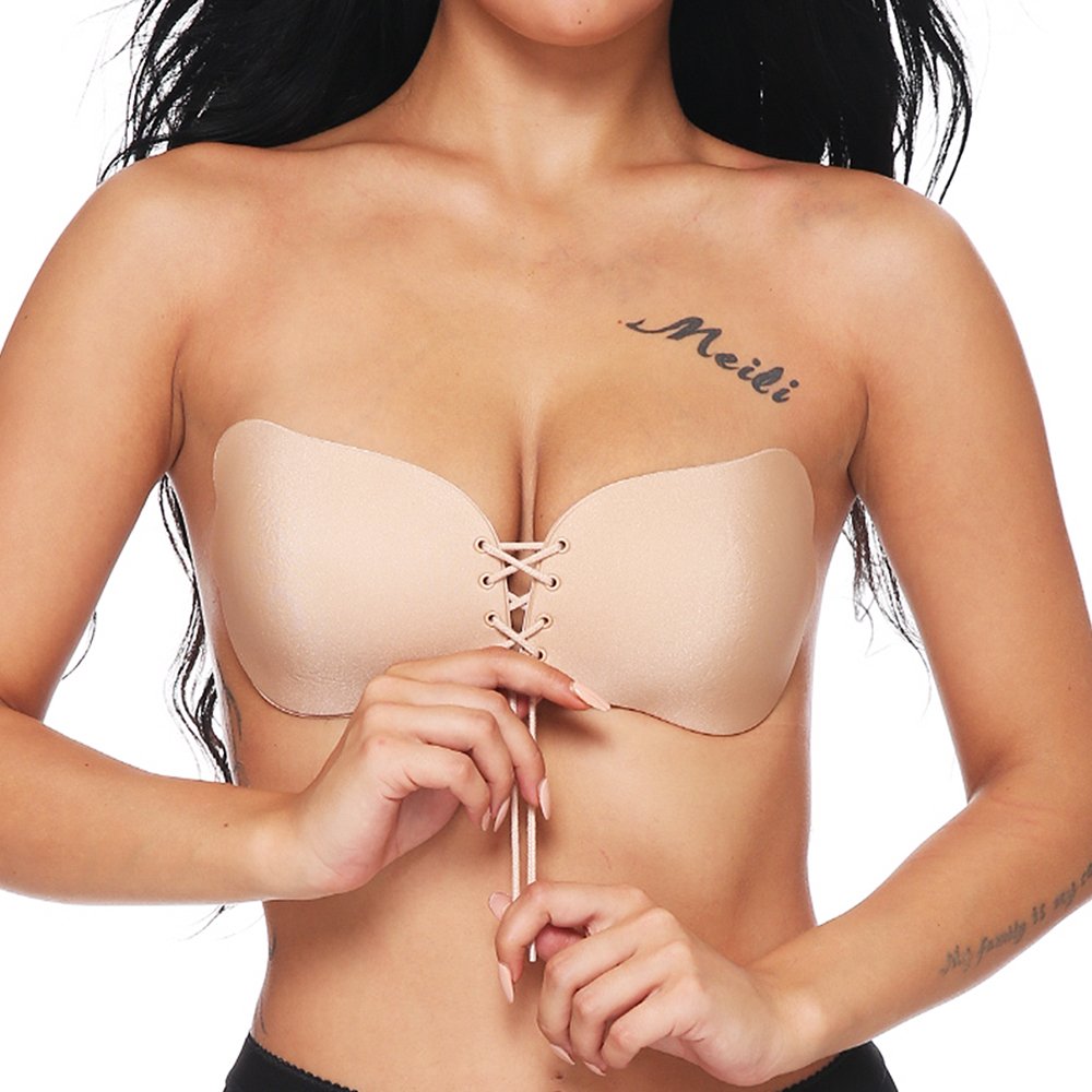 1 Pc Sexy Women Strapless Backless Seamless Invisible Bra Self Adhesive Push Up Free Stick On