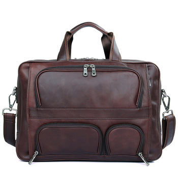 Men  Travel Duffles Weekend Bags Cow Leather Business 17