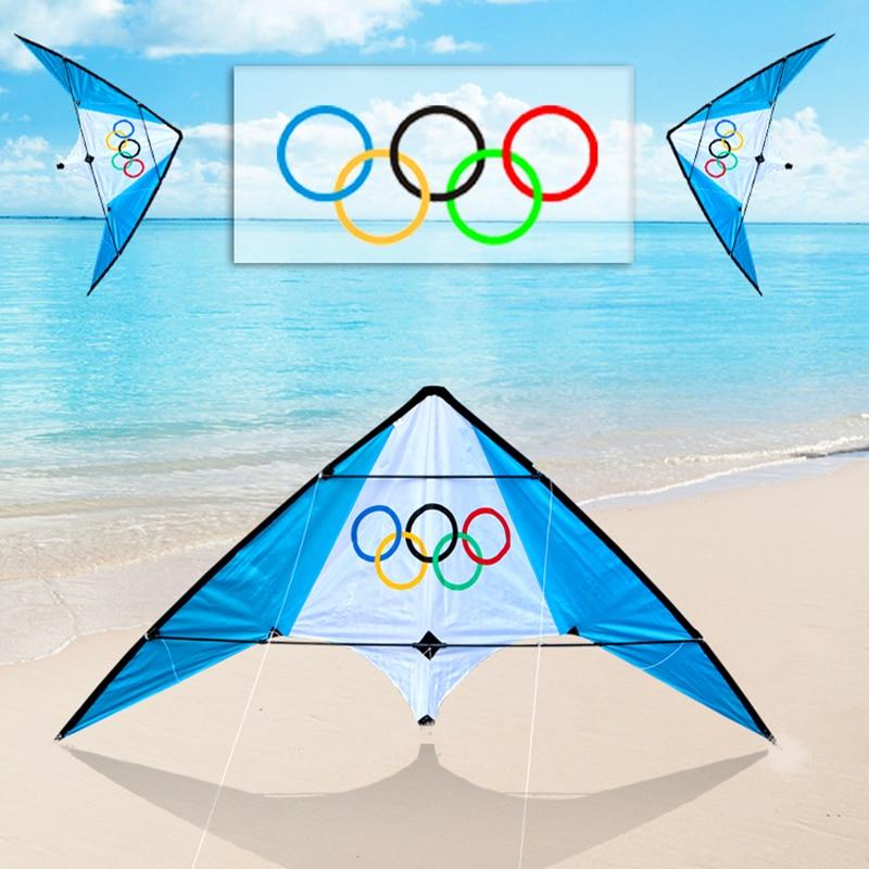 Envío gratuito alta calidad 1,9 m doble línea truco cometas con línea de mango weifang kite fábrica al aire libre juguetes voladores albatros cometa