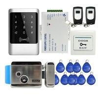 Бесплатная доставка Touch Панель Водонепроницаемый металла RFID считыватель клавиатуры запись Система контроля доступа + Электрический замок