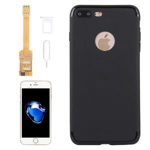 Image 1 - Für iPhone 7 7 Plus 6 s Plus 6 Plus 2 in 1 Dual SIM Karte Adapter + TPU Zurück fall Abdeckung mit SIM Karte Tray/SIM Karte Pin