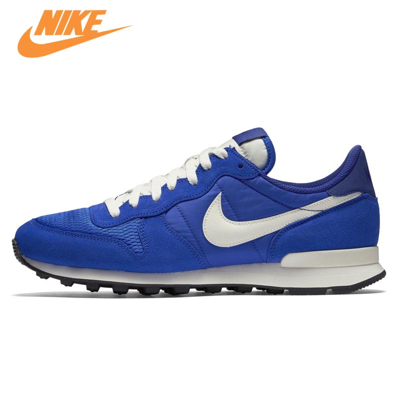 Original New Arrival Official Nike CORTEZ Men's Breathable Skateboarding Blue Shoes Sneakers Trainers original nike classic cortez nylon men s skateboarding shoes 532487 sneakers free shipping