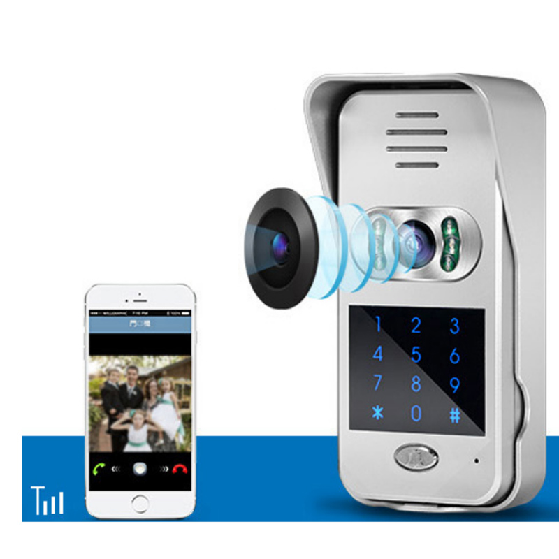 720P IP Wifi Doorbell Camera W/ Keypad Support Lock Function Motion Detection Alarm Wireless Video Doorbell CAMERA IP Door Phone