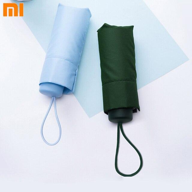Youpin Umbracella Fiber Ultralight yağmurlu güneşli şemsiye güçlü rüzgar geçirmez şemsiye Ultra küçük taşınabilir şemsiye