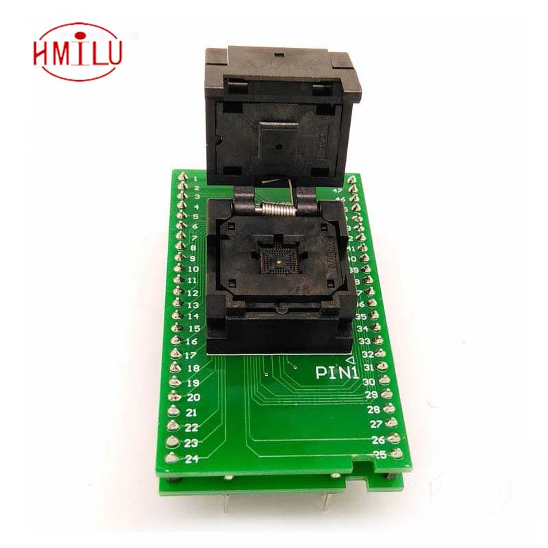 QFN40 MLF40 Programming Socket IC Test Socket Pitch 0.4mm Clamshell Chip Size 5*5 Flash Adapter SMT/SMD Test Socket цена