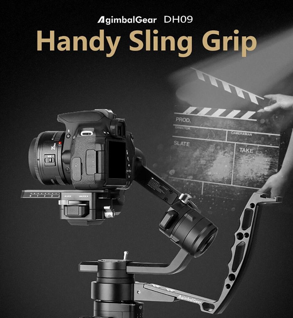 Gimbal Accessories Inverted Handle Sling Grip Neck Ring Mounting Extension Arm for DJI Ronin S Zhiyun Crane 2 /Plus Feiyu AK4000 2