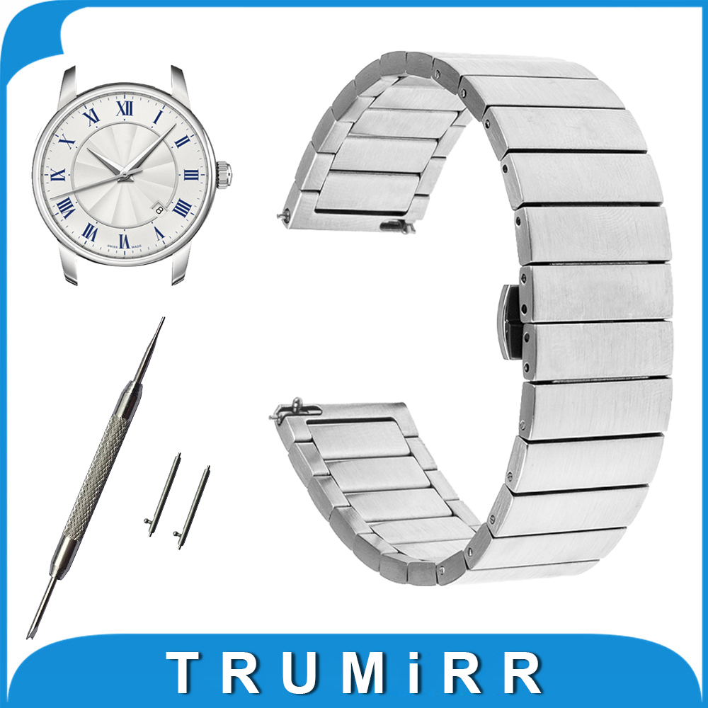 16mm 18mm 20mm Stainless Steel Watch Band + Tool for Mido Quick Release Strap Butterfly Buckle Bracelet Black Rose Gold Silver stainless steel cuticle removal shovel tool silver