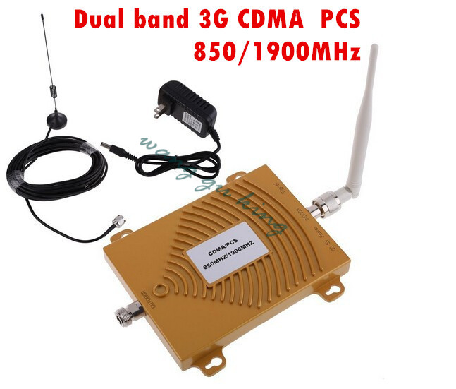 Mini PCS 1900MHz CDMA 850Mhz GSM Signal Repeater ,Dual Band 65dbi Cell Phone Signal Booster , Mobile Signal Repeater Amplifier