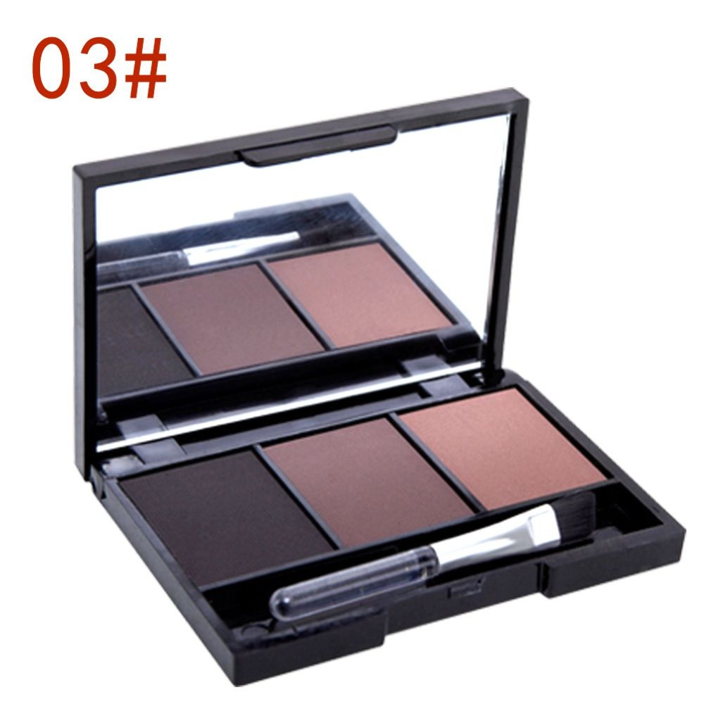 New Professional Kit 3 Color Eyebrow Powder Shadow Palette Enhancer with  Ended Brushes Hot Sale - us809 9ed230633c54