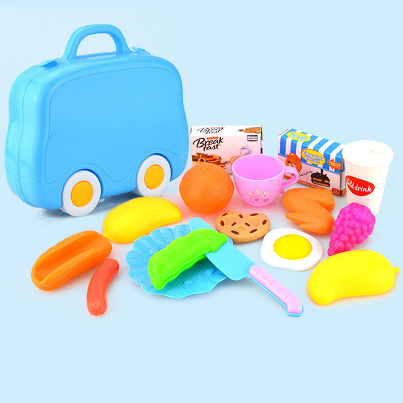 15Pcs/Set Plastic Fruit Meat Cutting Toy Early Development Education Toy for Children Kids BM88