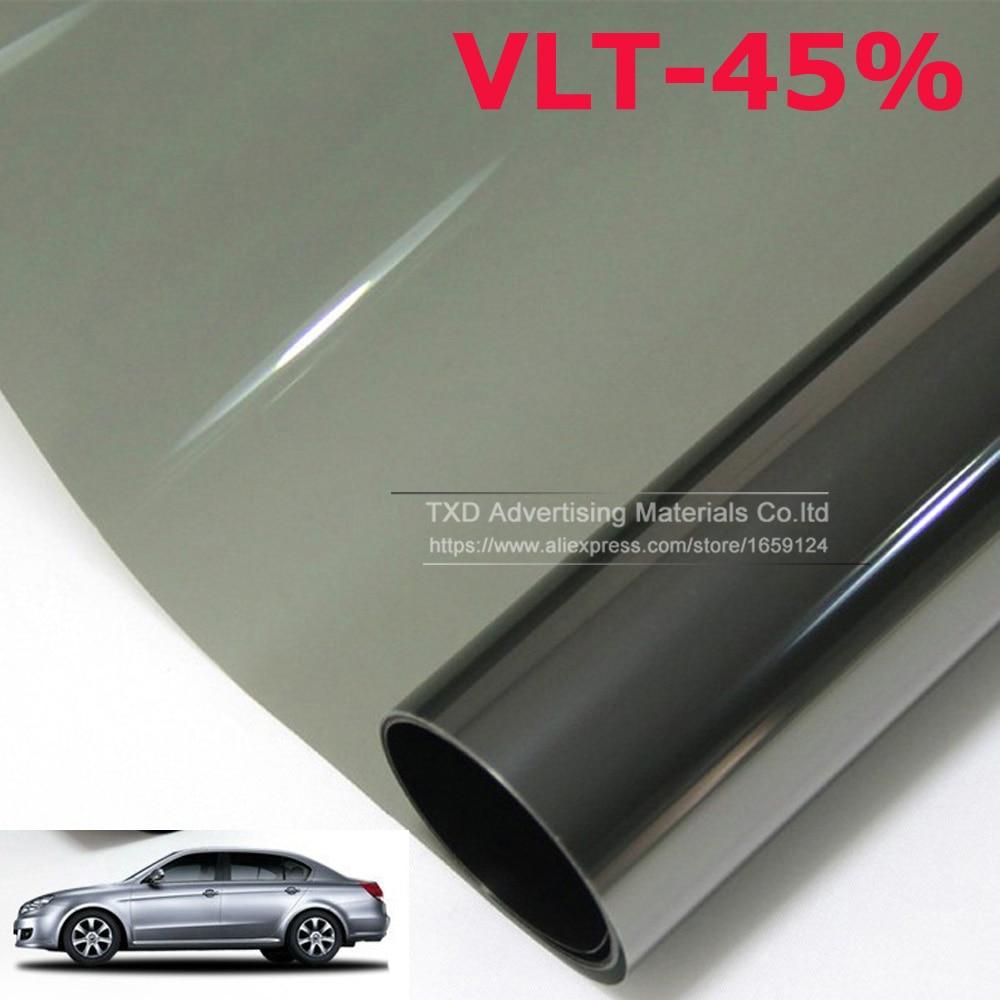 50cmx300cm lot car side window tint film glass vlt 45 for 2 ply window tint film